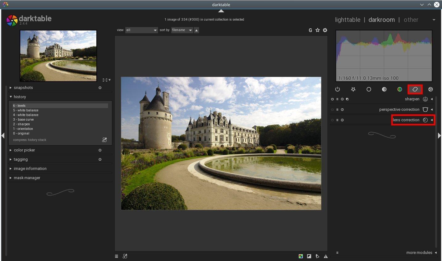 Basic photo editing with Darktable
